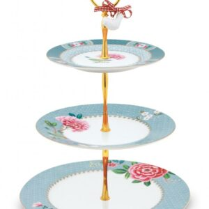 Cake Stand 3/LAAGS Blushing Birds Blue PIP