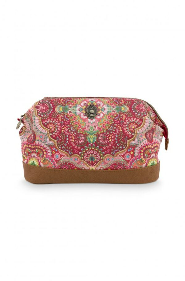 Cosmetic Purse Large Moon Delight Red 26x12x18cm PIP -