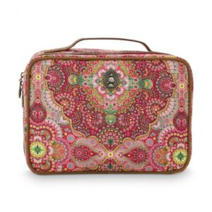 Beauty Case Square Large Moon Delight Red 27x19x10cm PIP -