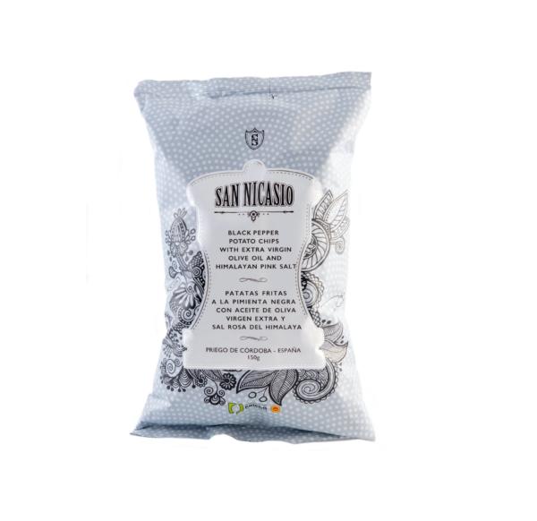 San Nicasio CHIPS zwarte peper 150gr