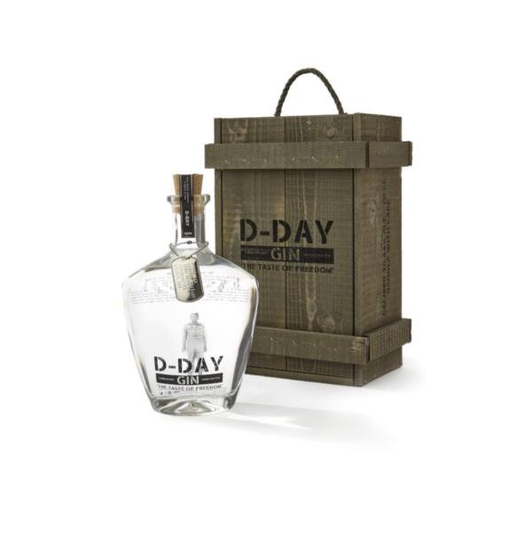 Rubbens D-day gin Houten Kist 20 cl