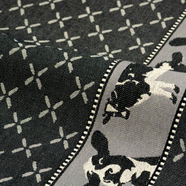 Tea Towel Bunzlau Cows 65x65cm, black