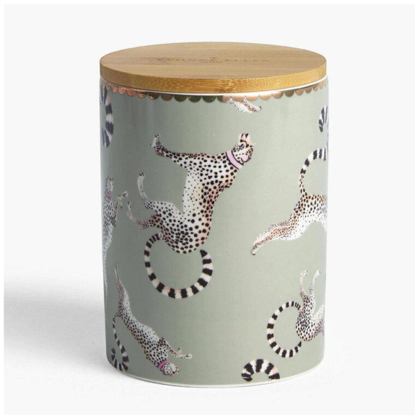 Yvonne Ellen Storage Jar Cheetah 14x10cm, 700ml