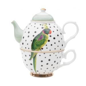 Yvonne Ellen Tea for One 500ml, Parrot, giftbox