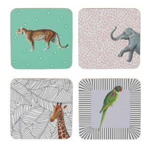 Yvonne Ellen 4ST Coasters , Mixed Animals