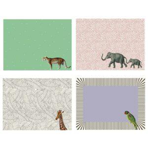 Placemats ,Mixed Animals YVONNE ELLEN