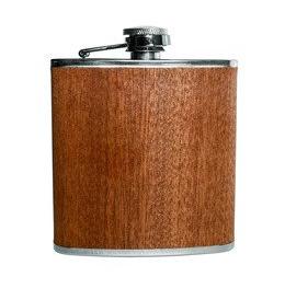 Flask&Funnel zakfles en vultrechter hout