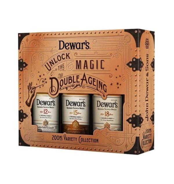 Dewar's Whiskey Unlock Trio 3 x 20 cl 40° KADOBOX