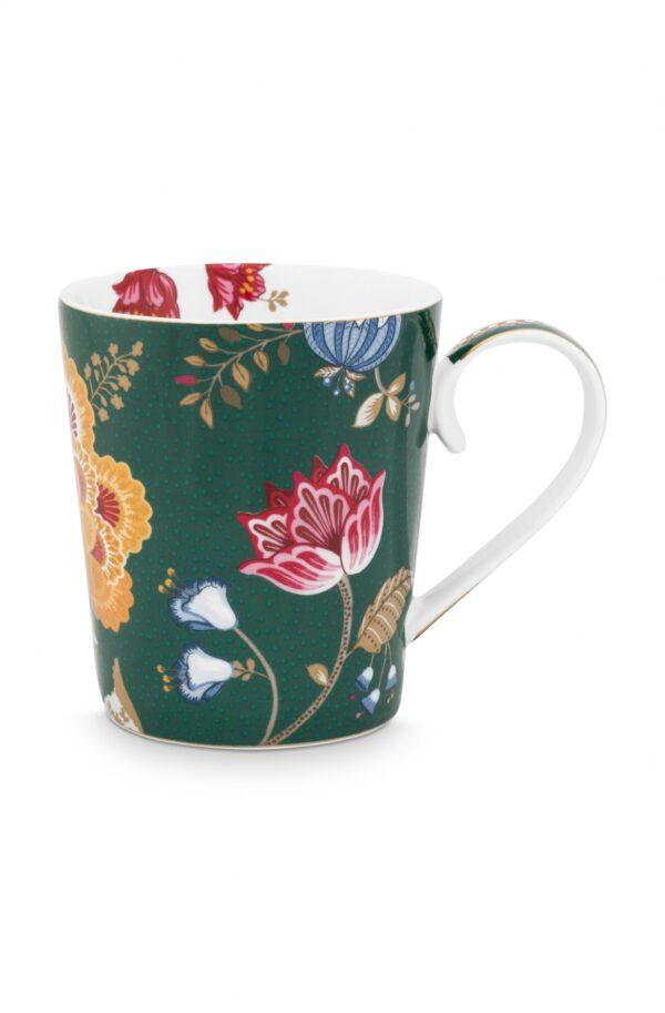 Alphabet Mug Floral Fantasy Green H