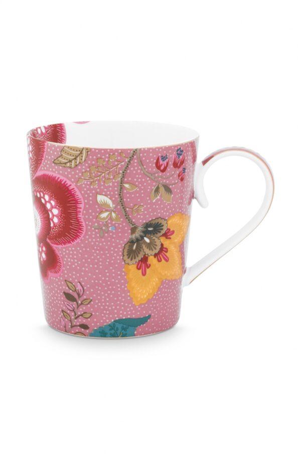 Alphabet Mug Floral Fantasy Pink S