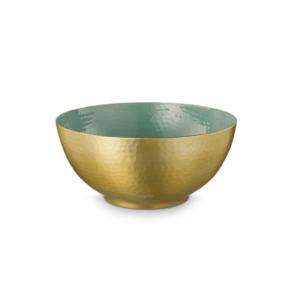 Bowl Enamelled Green 27cm PIP