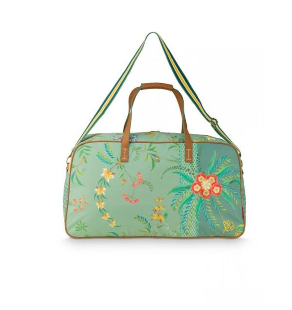 Weekend Bag Large Petites Fleurs Green