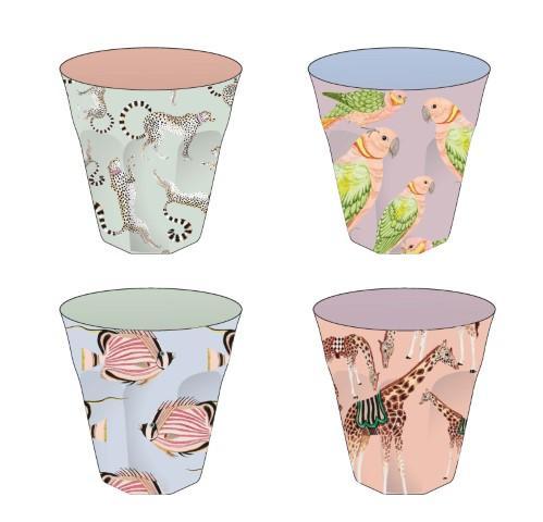 Picnic drinkbekers Melamine Yvonne Ellen 4 designs