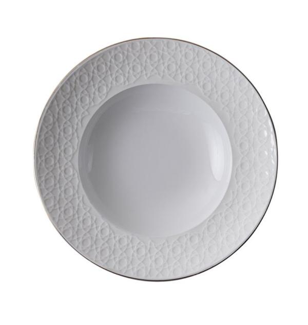 Nippon White Deep Plate 13cm, 50ml, Stripe