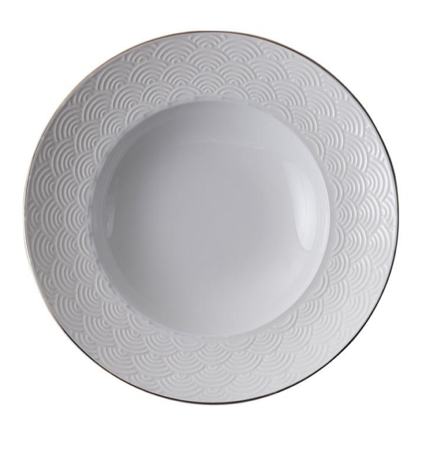 Nippon White Deep Plate 13cm, 50ml, Wave