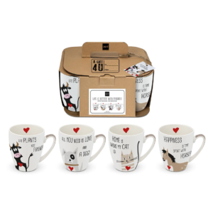 MUG set of 4 BETTER WITH FRIENDS PPD