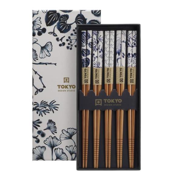 Chopstick Set/5 pair Flora Japonica, giftbox