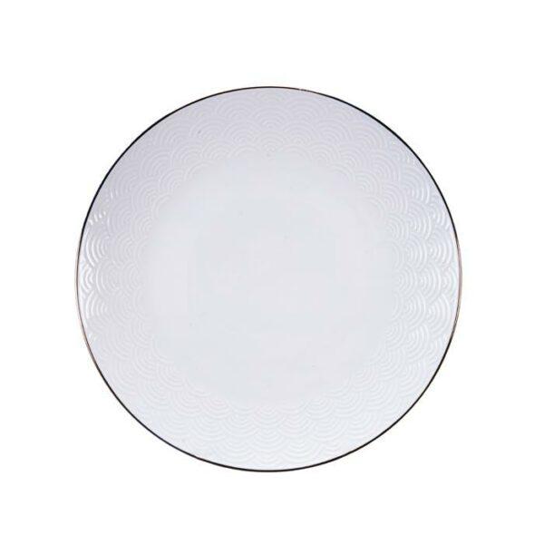 Nippon White bord 25 cm Wave