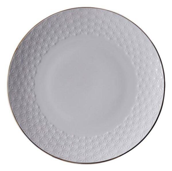 Nippon White Plate 25cm Star