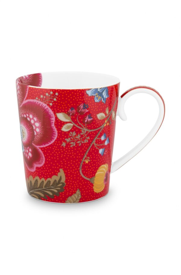 Alphabet Mug Blushing Birds Red C