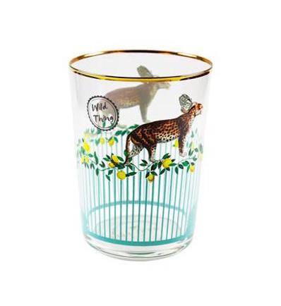 Yvonne Ellen Hi Ball Cocktail Glass 550ml Cheetah