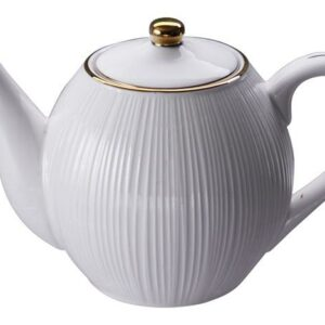 Nippon White Teapot 1.25L, Lines
