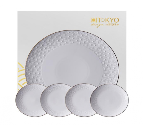 cake plate set nippon white