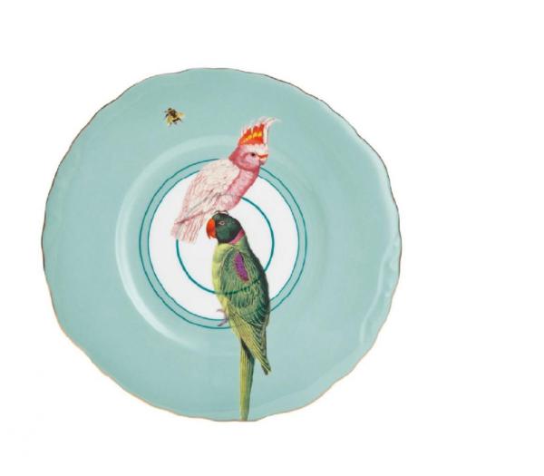 yvonne ellen sandwich plate parrot 22cm