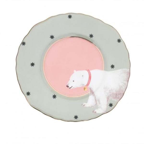 Yvonne Ellen Sandwich Plate Polar Bear 22cm