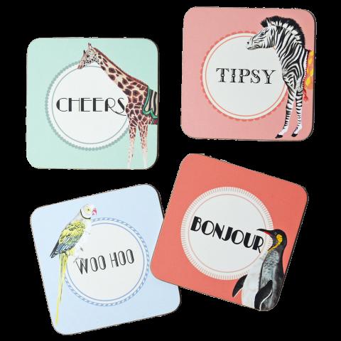 Yvonne Ellen 4ST Coasters, Mixed Text