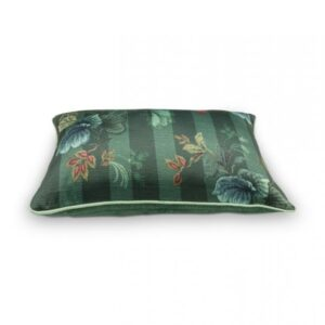 Cushion Leafy Stitch Green