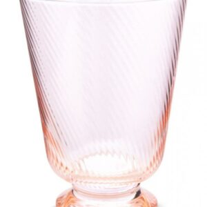 Water Glass Twisted Pink 360ml