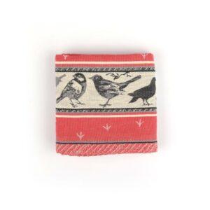 Tea Towel Bunzlau Birds 65x65cm, red birds