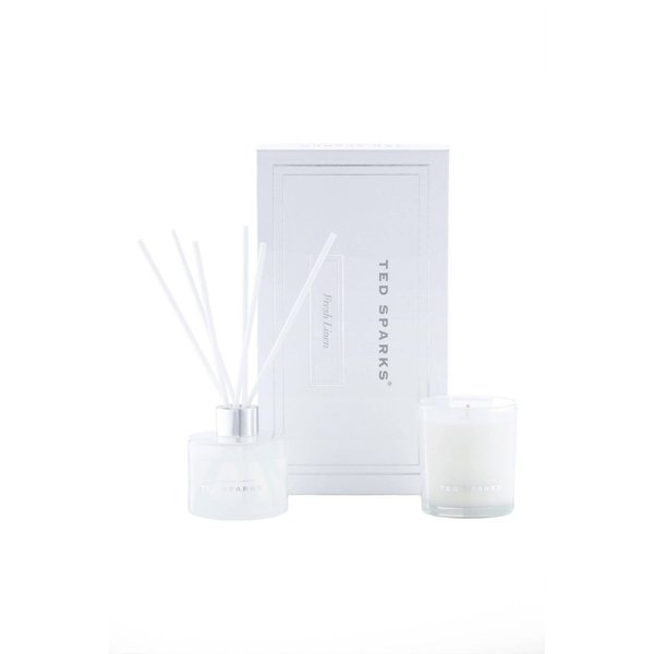 TED SPARKS - Candle & Diffuser Gift Set M - Fresh linnen