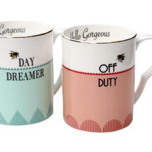 Yvonne Ellen Set/2 Mugs Off Duty & Day Dreamer