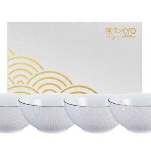 Giftbox, Nippon White Bowl set /4