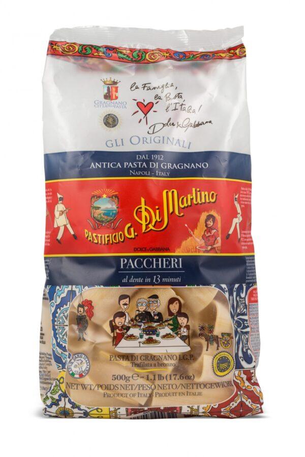 Pasificio G. DI MARTINO PACCHERI 500 gr DOLCE & GABBANNA