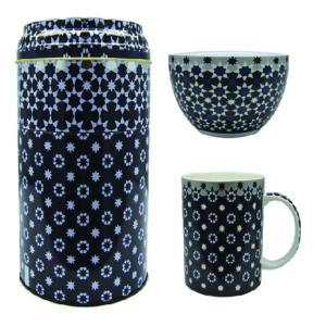 Tin box with mug 250ml & bowl 12cm, KAOKAB