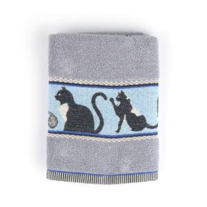 Kitchen Towel Bunzlau Cats 53x60cm, grey