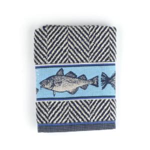 Kitchen Towel Bunzlau Fish 53x60cm, blue