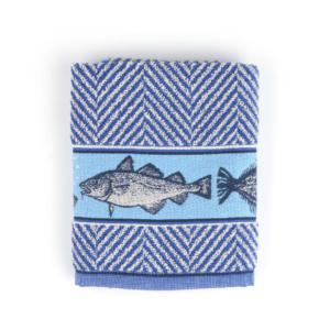 Kitchen Towel Bunzlau Fish 53x60cm, Royal blue