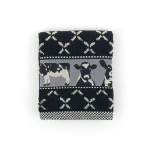 Kitchen Towel Bunzlau Cows 53x60cm, black