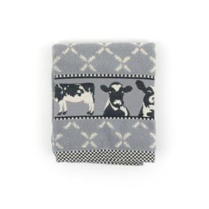 Kitchen Towel Bunzlau Cows 53x60cm, grey