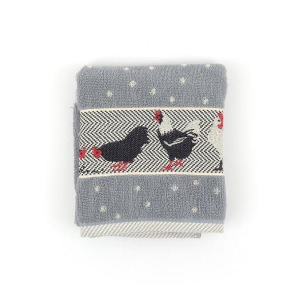 Kitchen Towel Bunzlau Chickens 53x60cm, grey