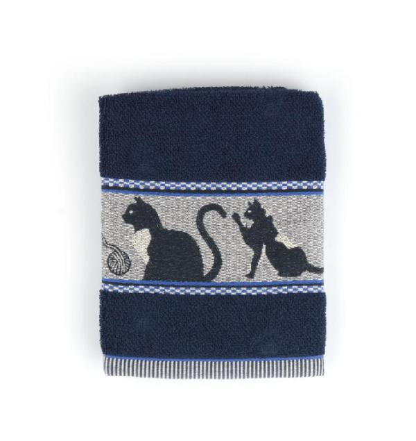 Kitchen Towel Bunzlau Cats 53x60cm, blue