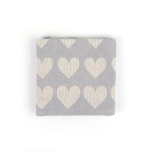 Tea Towel Bunzlau Hearts 65x65cm, grey