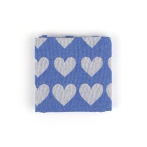 Tea Towel Bunzlau Hearts 65x65cm, blue