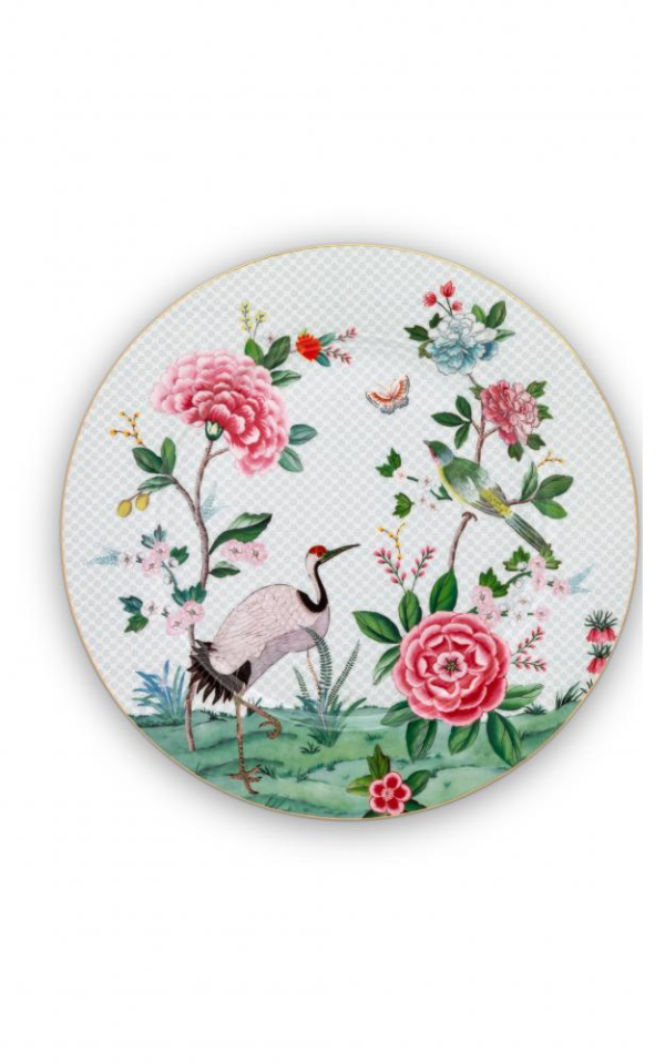 plate blushing birds 32cm