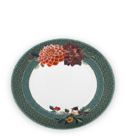Plate Winter Wonderland Big Flower Green 21cm