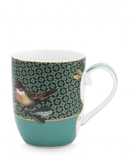 Mug Small Winter Wonderland Bird Green 145ml